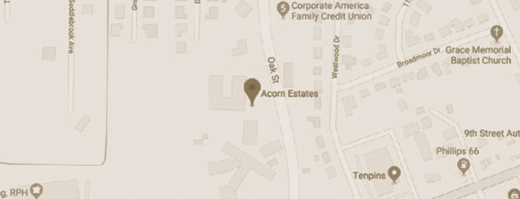 WLC Management Firm Acorn Estates Supportive Living Map